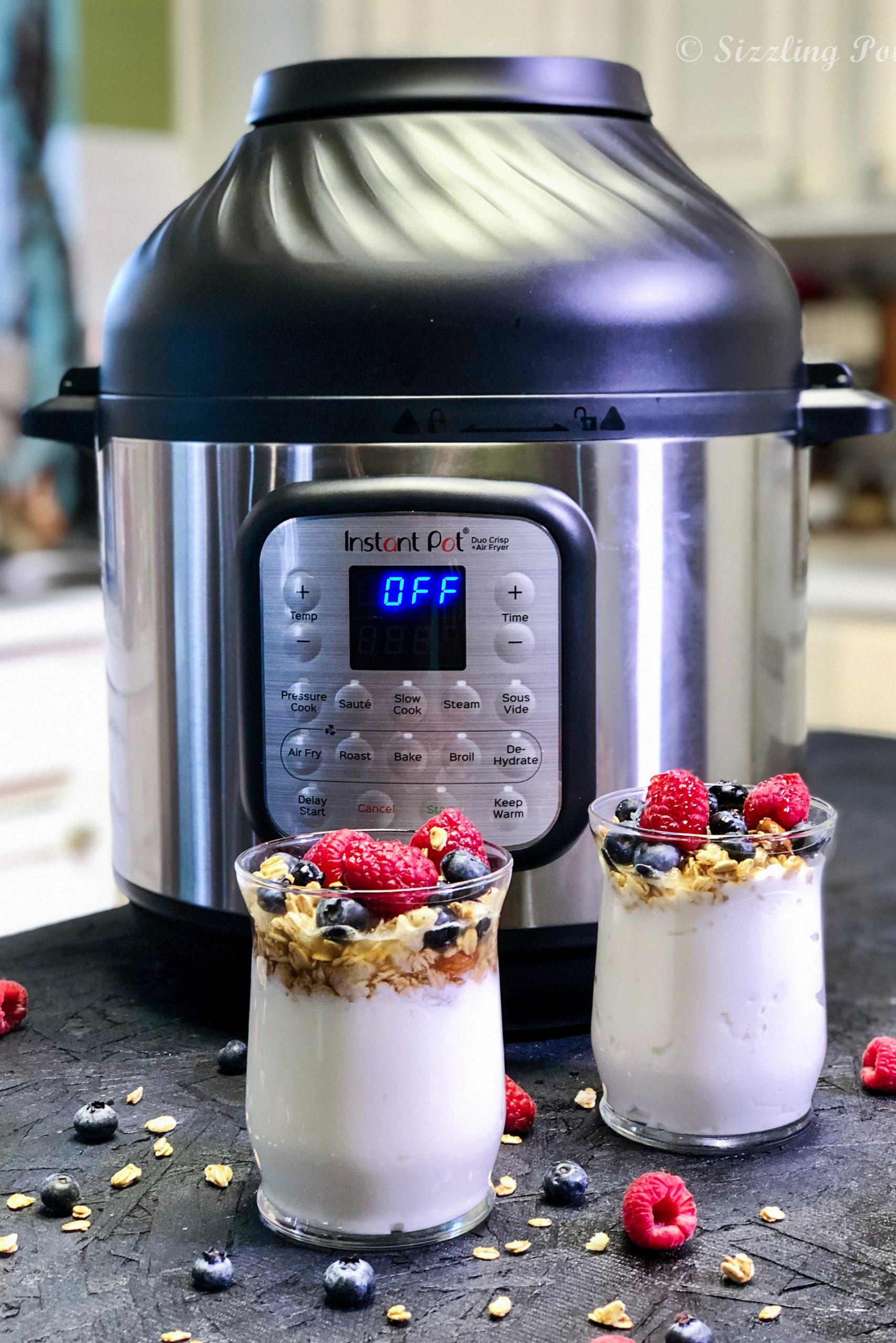Instant Pot DUO Crisp Sous Vide Greek-Style Homemade Yogurt Recipe